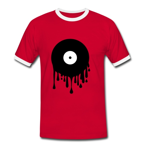 Melting Record - Men's Ringer Shirt