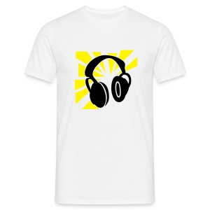 Headphones white - Männer T-Shirt