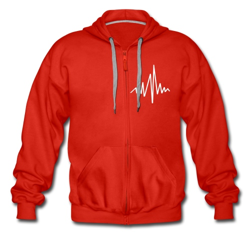 Heart Rate Mens Hooded Jacket - Men's Premium Hooded Jacket