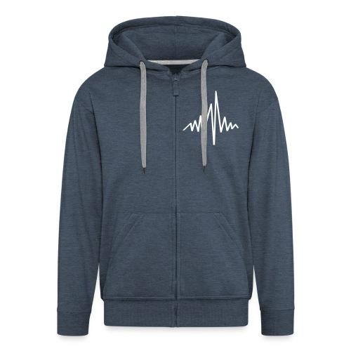 Heart Rate Mens Hooded Jacket - Men's Premium Hooded Jacket