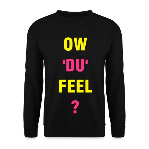 Ow'du'feel Mens Jumper Black/Yellow/Pink - Men's Sweatshirt