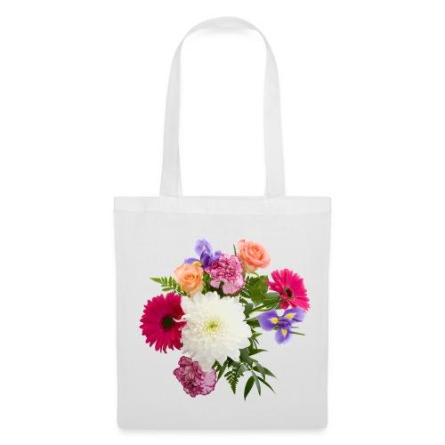 Stofftasche Blumen - Stoffbeutel