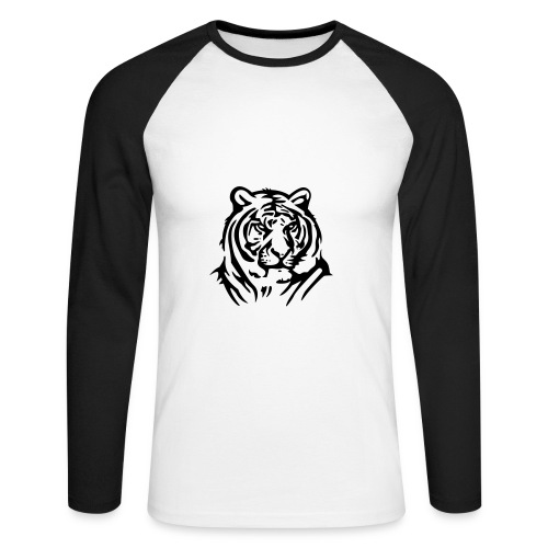 Men's T - Shirt  - Men's Long Sleeve Baseball T-Shirt