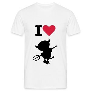 i love the devil T-shirt - Men's T-Shirt