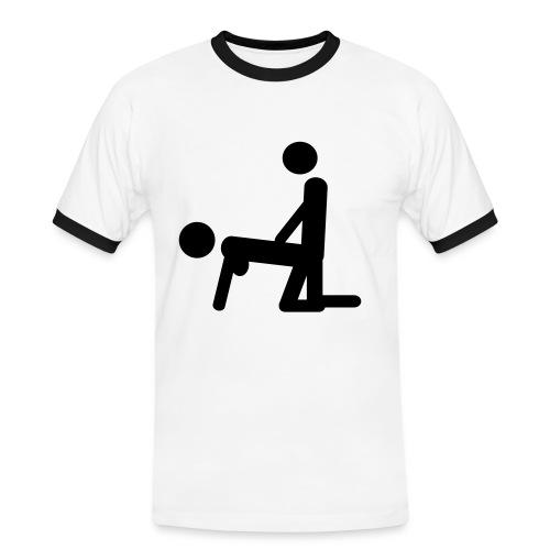 Partyskjorta - Kontrast-T-skjorte for menn