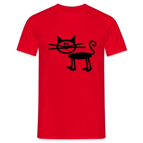 Katten skjorte - T-skjorte for menn