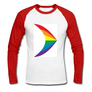 Gay Pride Flag Design - Men's Long Sleeve Baseball T-Shirt