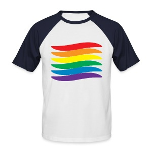 Pride Swoosh - Men's Baseball T-Shirt