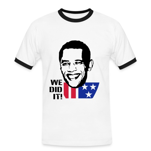 WE DID IT! - Männer Kontrast-T-Shirt