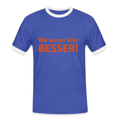 BESSER - Männer Kontrast-T-Shirt