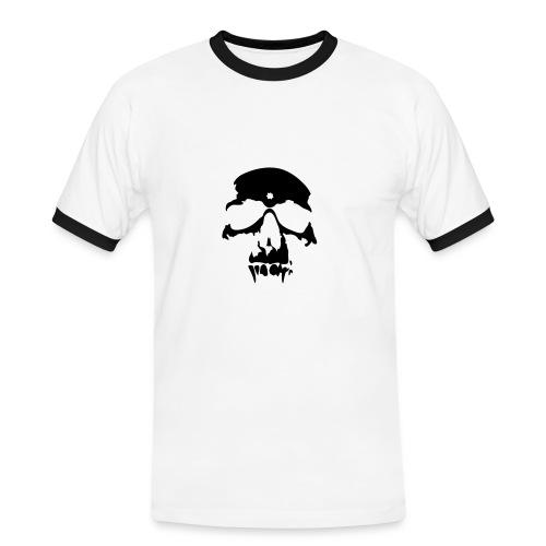 black&white skull t-hirt - Men's Ringer Shirt