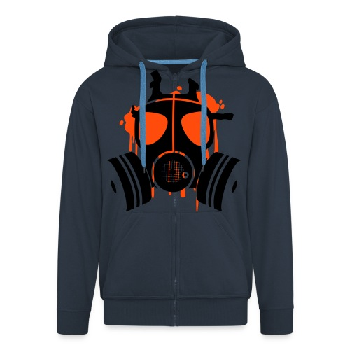 mask jack 1 - Men's Premium Hooded Jacket