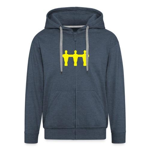 mature hood jacket  - Men's Premium Hooded Jacket