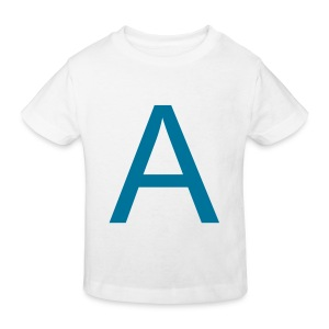 A is for Adorable (Petrol on White) - Kids' Organic T-shirt