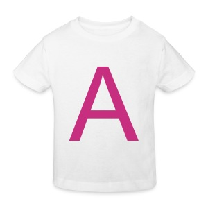 A is for Adorable (Magenta on White) - Kids' Organic T-shirt