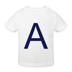 A is for Adorable (Navy on White) - Kids' Organic T-shirt