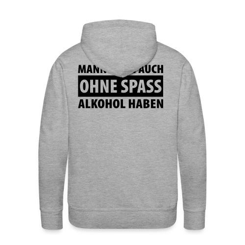 Kapuzenleiberl mit Aufdruck auf der Kapuze und hinten - Männer Premium Hoodie