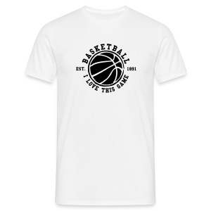 Men`s Classic ''BASKETBALL LOVE THE GAME'' t-shirt  - Men's T-Shirt