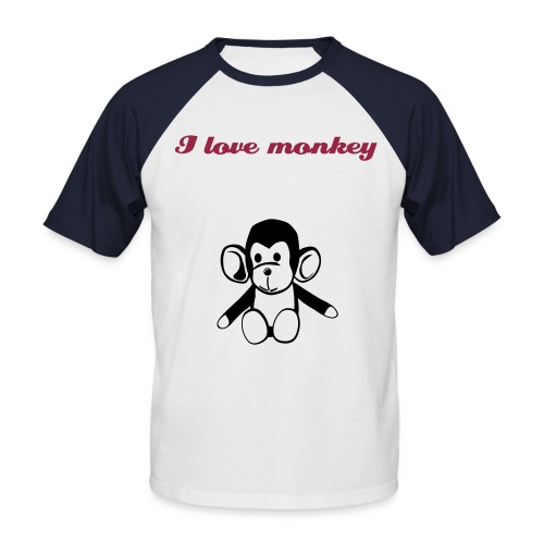 I love monkey - Men's Baseball T-Shirt