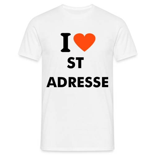I LOVE ST ADRESSE - T-shirt Homme