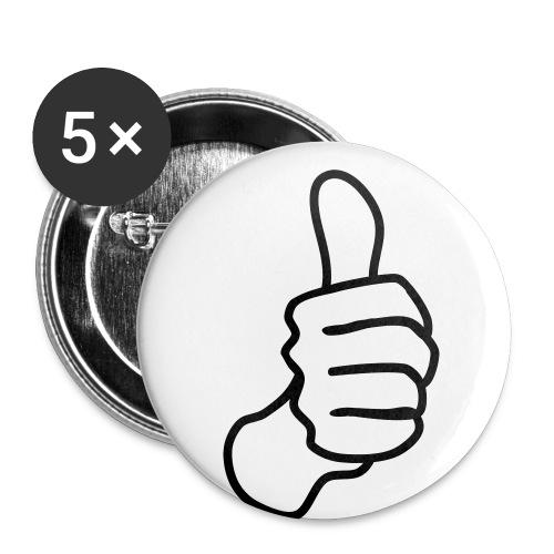 Buttons 5 PACK 32MM - Buttons medium 1.26/32 mm (5-pack)