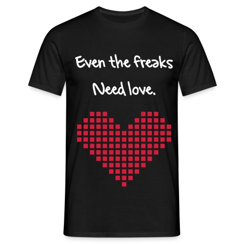 freak love - T-skjorte for menn