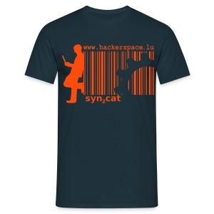 syn2cat shirt (orange-navy edition) - Men's T-Shirt
