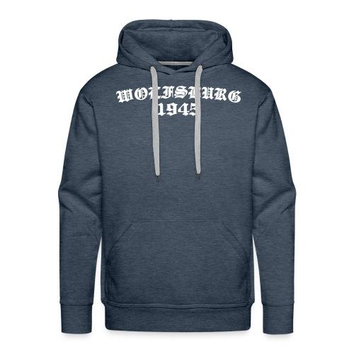 Wolfsburg 1945 altdeutsch, weißer Flock - Männer Premium Hoodie