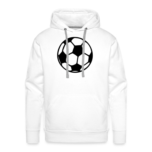 Football, Hood (black) - Men's Premium Hoodie
