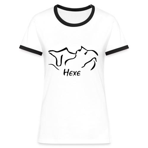 Frauen Kontrast TShirt Hexe - Frauen Kontrast-T-Shirt