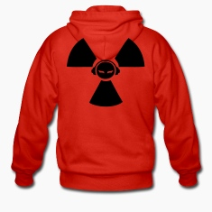 Red Radioactive DJ symbol Coats & Jackets