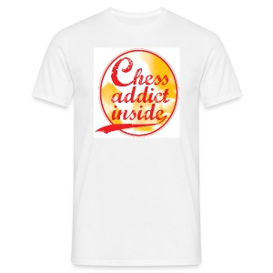 Chess addict inside - Mannen T-shirt