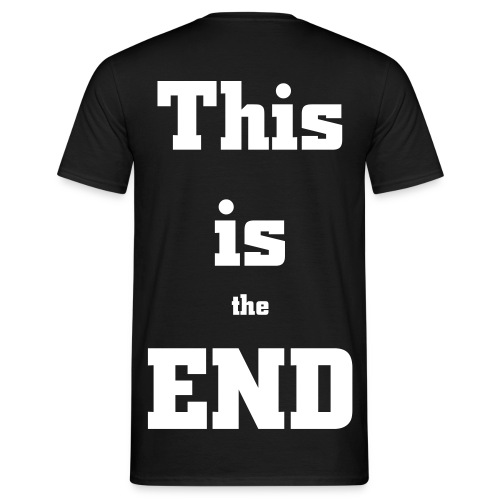 This is the end - back - T-shirt herr