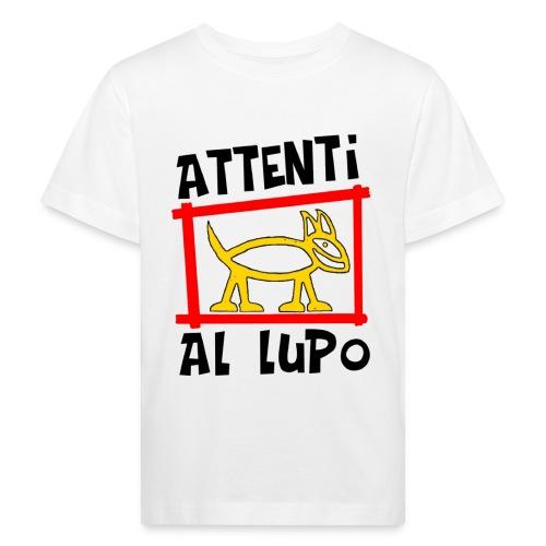 T- shirt bambino attenti al lupo - Maglietta ecologica per bambini