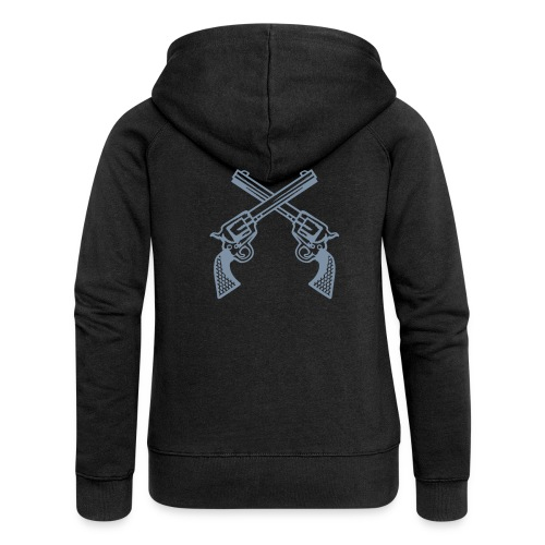Two Guns, ZippHood (silver) - Women's Premium Hooded Jacket