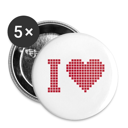 I Love..... - Buttons groß 56 mm