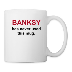 BANKSY has never used this mug - Mug