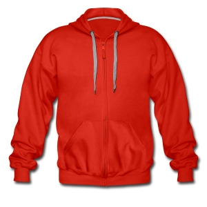 mens jacket insert your own text - Men's Premium Hooded Jacket