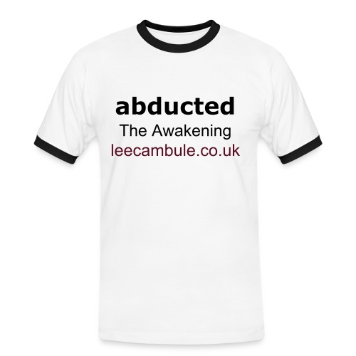 'abducted' Plain White T-shirt - Men's Ringer Shirt