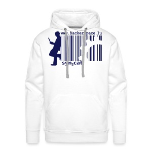 syn2cat Hoody (white edition) - Men's Premium Hoodie