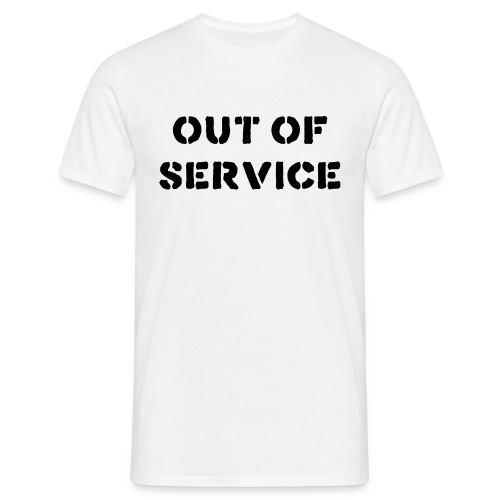 OUT OF SERVICE T-SHIRT - WHITE - Men's T-Shirt