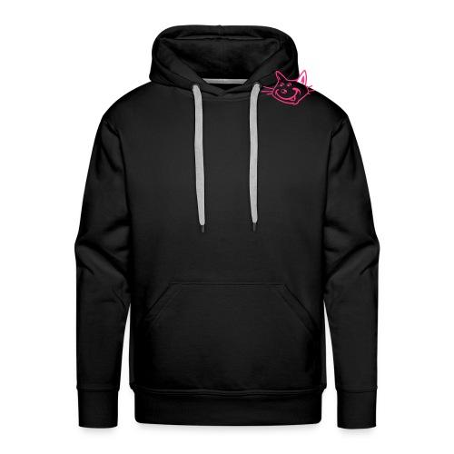Pink Cat Head Hoody - Men's Premium Hoodie