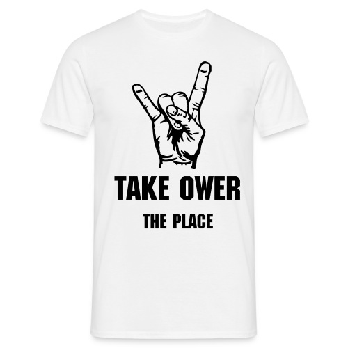 Mens Classic THE TAKE OWER t-shirt - Men's T-Shirt