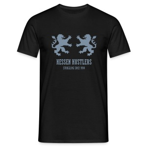 HESSEN HUSTLERS DOUBLE LION T-Shirt, black - Männer T-Shirt