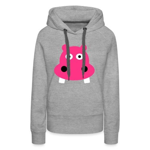 Funky Hippo - Dame Premium hættetrøje