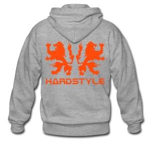Hardstyle Lions - Neonorange - Men's Premium Hooded Jacket