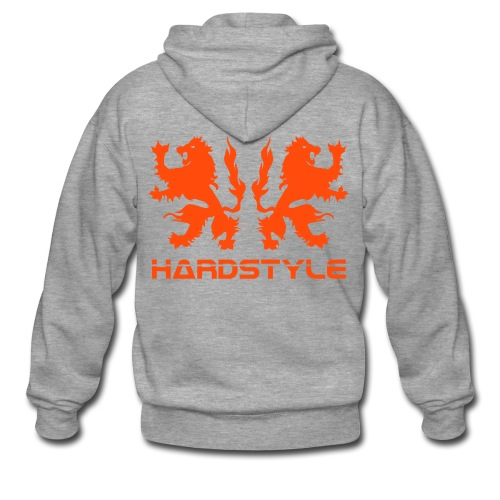 Hardstyle Lions - Neonorange - Men's Premium Hooded Jacket