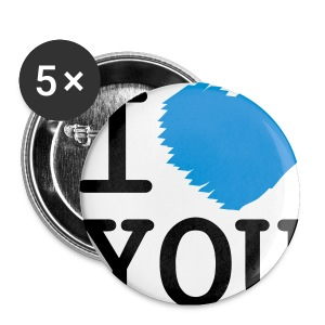 Button I LOVE YOU klein (5 pack) - Buttons klein 25 mm