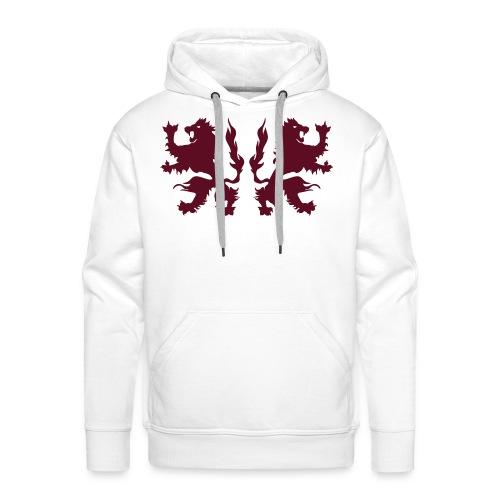 Double Lions - Burgundy red - Men's Premium Hoodie