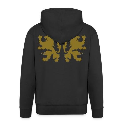 Double Lions - Gold print - Men's Premium Hooded Jacket